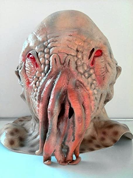 Spod Doctor Who Ood Cosplay Octopus Head Mask Creepy Halloween