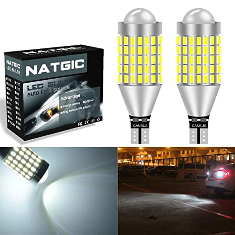 NGCAT T15 T10 W16W 921 Bombillas LED Xenon blanco 900LM 6500K 3014SMD 87-EX Chipsets