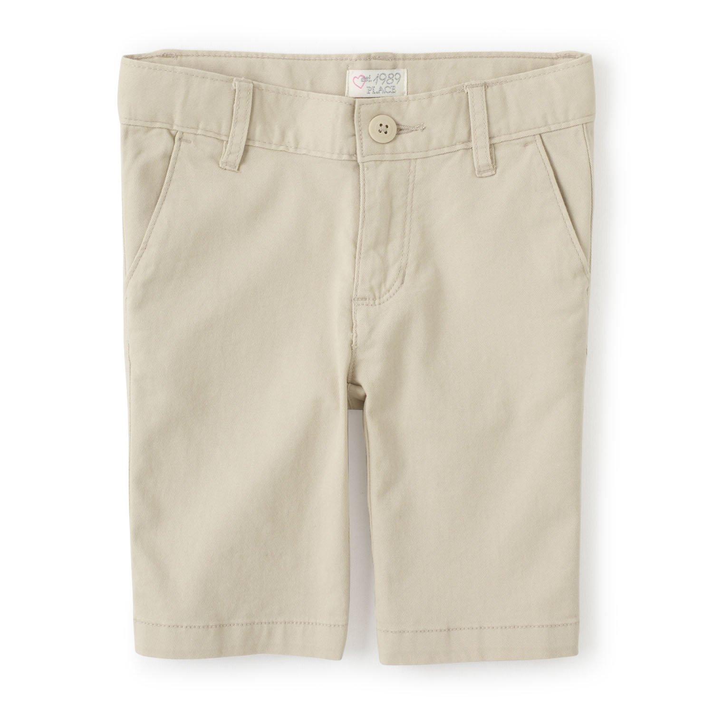 The Children's Place Girls Size Uniform Shorts, Biscuit 9005, 8 Slim