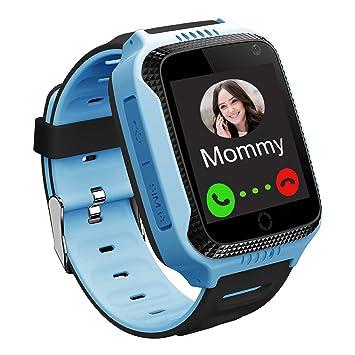 GPS Niños Smartwatch Phone - Tracker Watch Relojes para Niños con Contador de Pasos Geo Fence Cámara SOS Linterna Chat de Voz Juego para 3-12 Niños ...