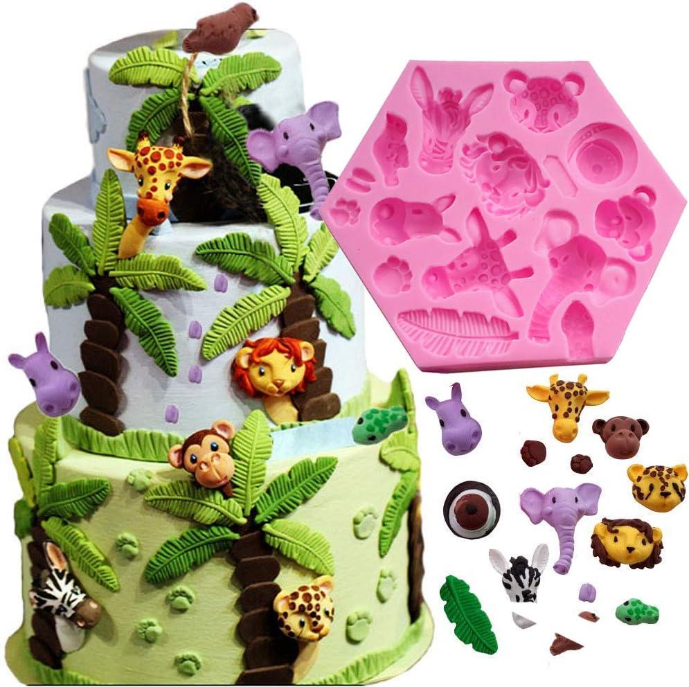 Jungle Animals Fondant and Gum Paste Mold Silicone Mold
