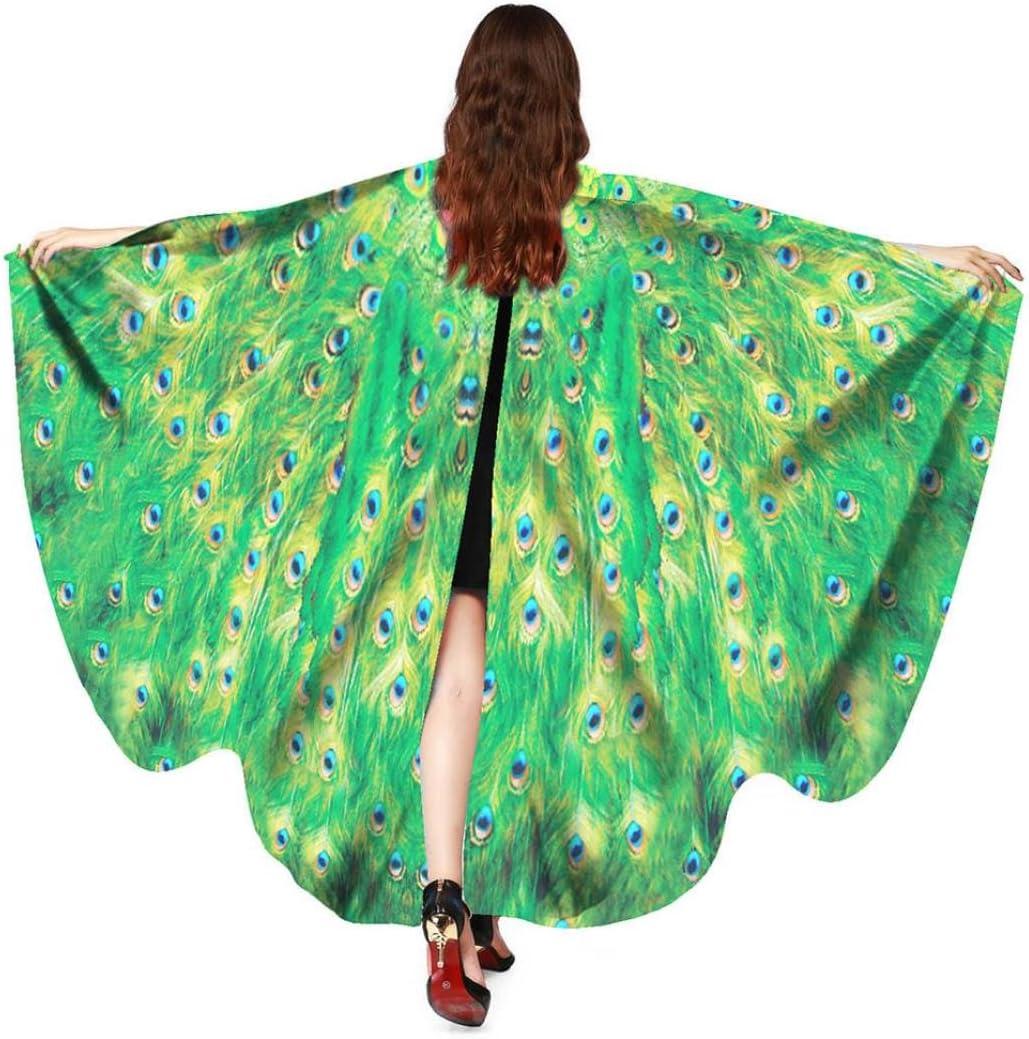 Dragon868 Disfraz de alas de pavo real para mujer, para disfraz de ...