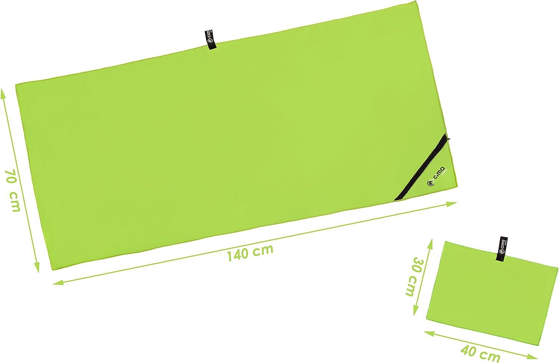 Lot de 2/serviettes en microfibre 140/x 70/cm et 40/x 30/cm Serviette id/éales pour vos activit/és de fitness Sac de transport inclus compactes et ultra absorbantes yoga l/ég/ères sport -/Petites