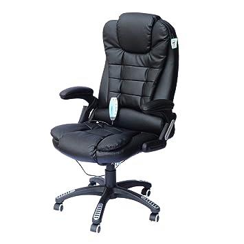 Bürosessel  Homcom A2-0055 Bürosessel, Lederimitat, schwarz, 62 x 68 x 121 cm ...