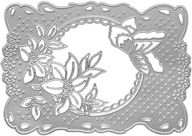 FLOWER frame die cuts scrapbook cards