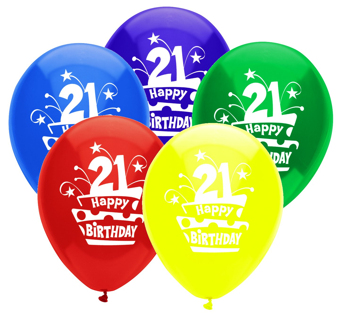 PartyMate 12 Round Printed Latex Balloons Over The Hill Pitch Black 42862 6-Count