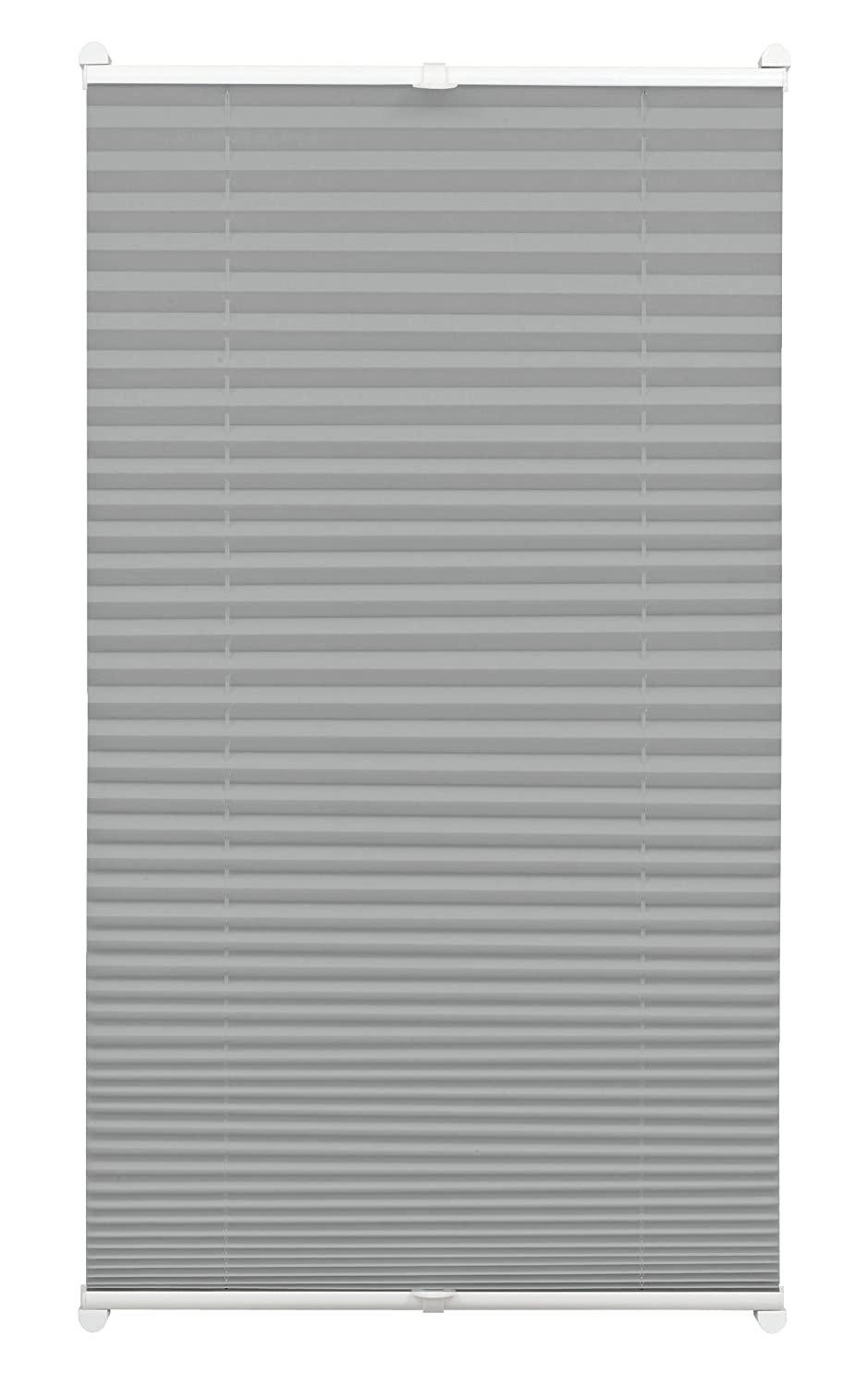 Gardinia Pleated Blind for Clamping, Opaque Folding Blind, Mounting Kit Included, EASYFIX Pleated Blind with Two Operating Rails, Bordeaux Red, 40 x 130 cm (WxH) 33724
