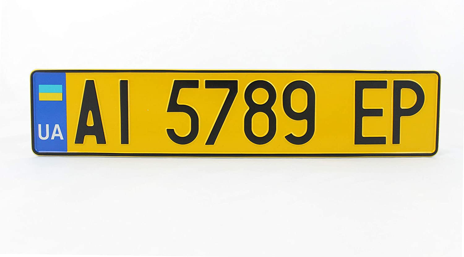 License Plates Shop Kretschmer Plaque dimmatriculation Allemande D Euro Europe Europe Plaque dimmatriculation emboss/ée Noir Mat et Blanc