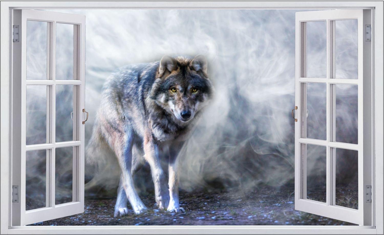 Wolf Wolf Wolf Natur Tier Wildness Wandtattoo Wandsticker Wandaufkleber F0645 Größe 120 cm x 180 cm B07BRPKWVG Wandtattoos & Wandbilder b9cc8d