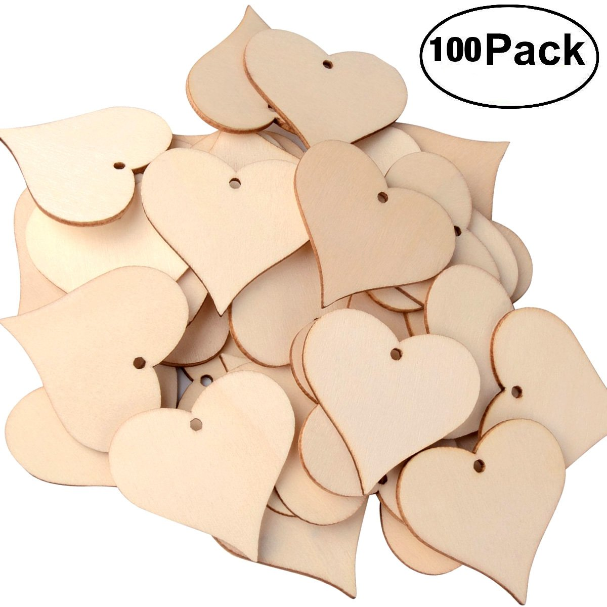 Natural Wood Slices Craft Wood kit Unfinished Predrilled with Hole Wooden Circles Great for Arts and Crafts Christmas Ornaments DIY Crafts 25pcs 2.8-3 inch