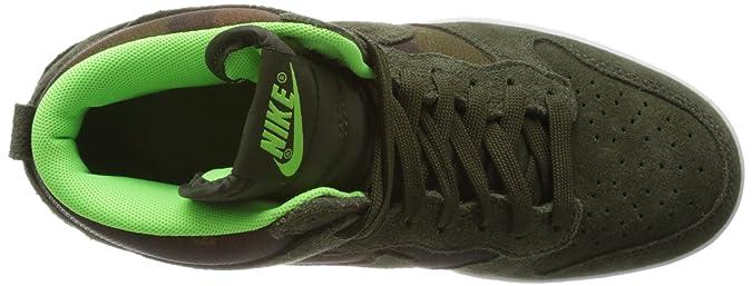 Nike Zapatillas de cuña W Dunk Ski Hi Print INT Verde EU 38 (US 7): Amazon.es: Zapatos y complementos