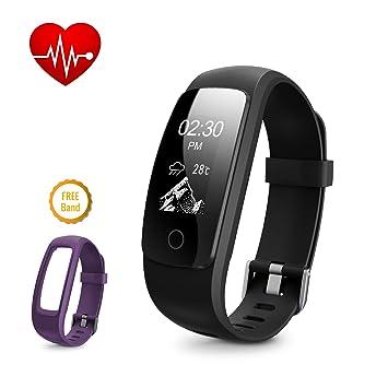 DBPOWER Fitness tracker Reloj Inteligente con Registro de la Actividad, Control de la Frecuencia Cardíaca