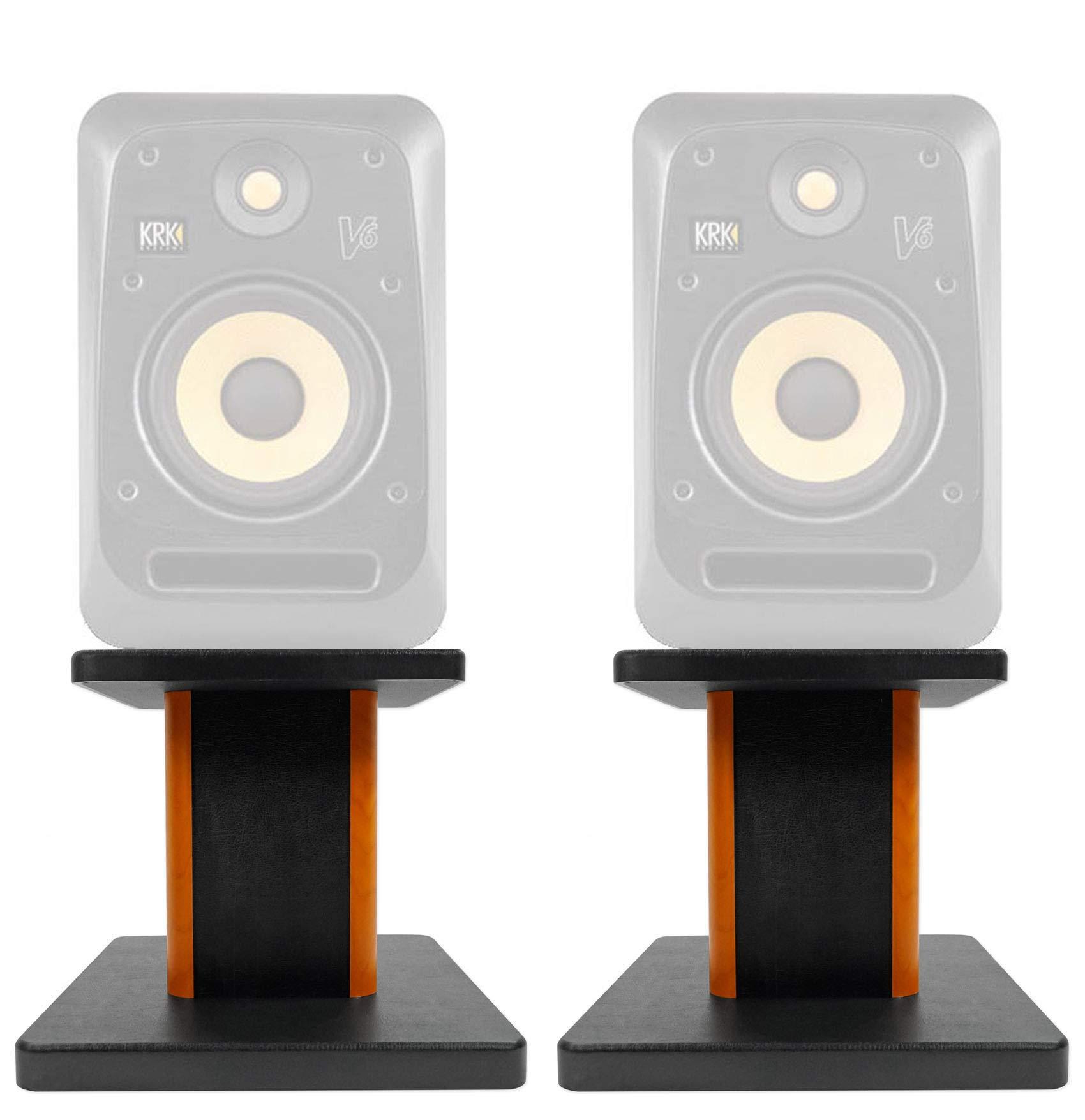ROCKVILLE 8'' Wood Studio Monitor Speaker Stands for KRK V6 S4 Monitors by ROCKVILLE
