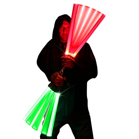 amazon com double sided ultrasaber 2 in 1 led lightsaber sword with
