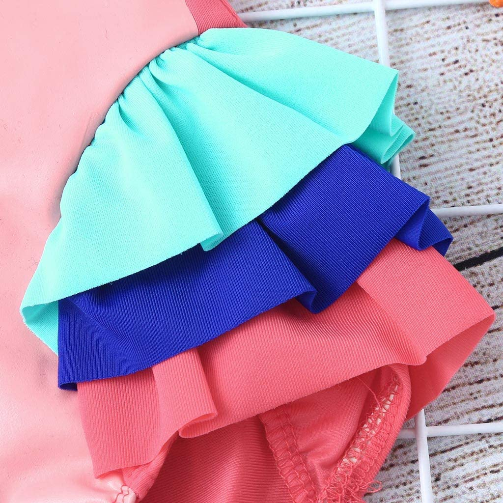 KASSD Ruffle Swimsuit for Girls Baby Kids Girl Ruffles Swan Swimwear Beach Bathing Outfits