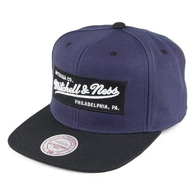 3c13deb94b2 Mitchell   Ness Men Caps Snapback Cap Box Logo Blue Adjustable ...