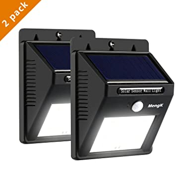 Lampara Solar, MengK Luz Solar Versión Mejorada 16 LED Lámpara Solar Impermeable con Sensor de