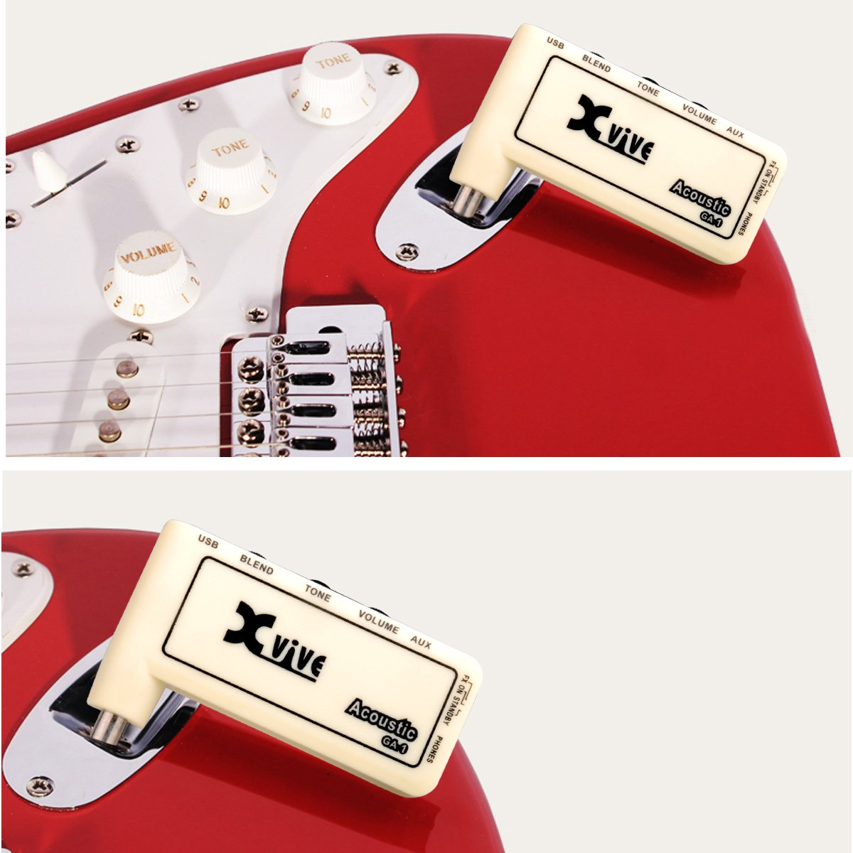 Mini Headphone Amp Acoustic Amplug Usb Charge Accept 1 4 Modify Into The Electric Guitar On Fm Wireless Transmitter Cable Plastic Creamy White By Lc Prime Musical Instruments