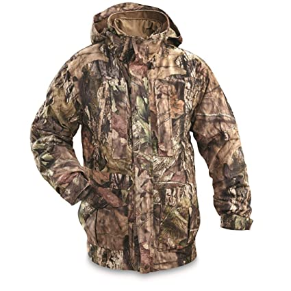 e3650ad804928 Guide Gear Steadfast 4-in-1 Hunting Parka, 150 Gram Thinsulate Platinum with