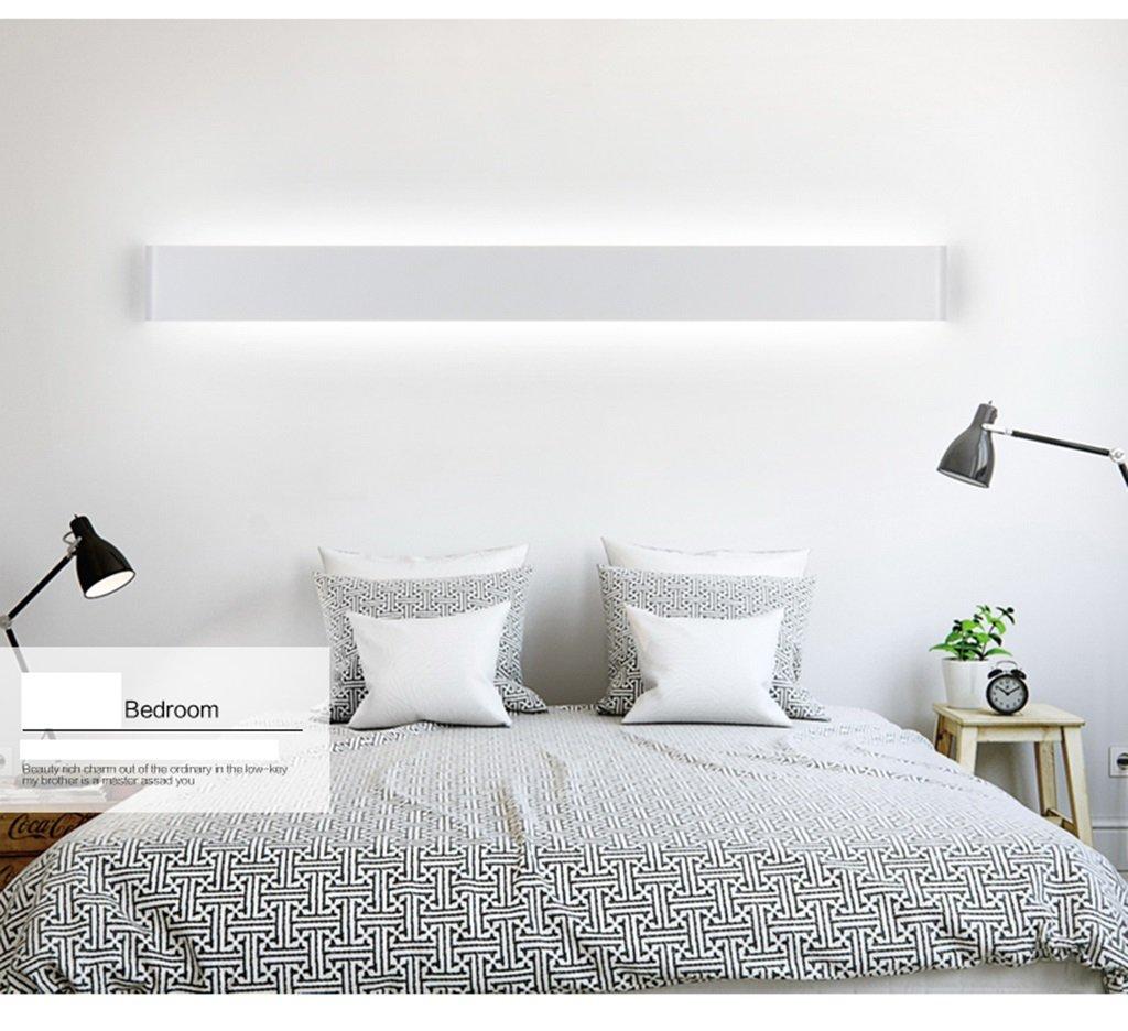 & Spiegellampen LED-Aluminium-Legierung Wand Lampe Bad Lampe, Wohnzimmer Schlafzimmer Bett Lampe Kanal kreative Wandleuchte Badezimmerbeleuchtung (Farbe   Weiß Weiß-20W 61cm)