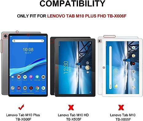 QWERTY English IVSO Teclado Estuche para Lenovo Tab M10 FHD Plus Negro Slim Stand Funda con Removible Wireless Teclado para Lenovo Tab M10 FHD Plus TB-X606F 10,3 Pulgadas