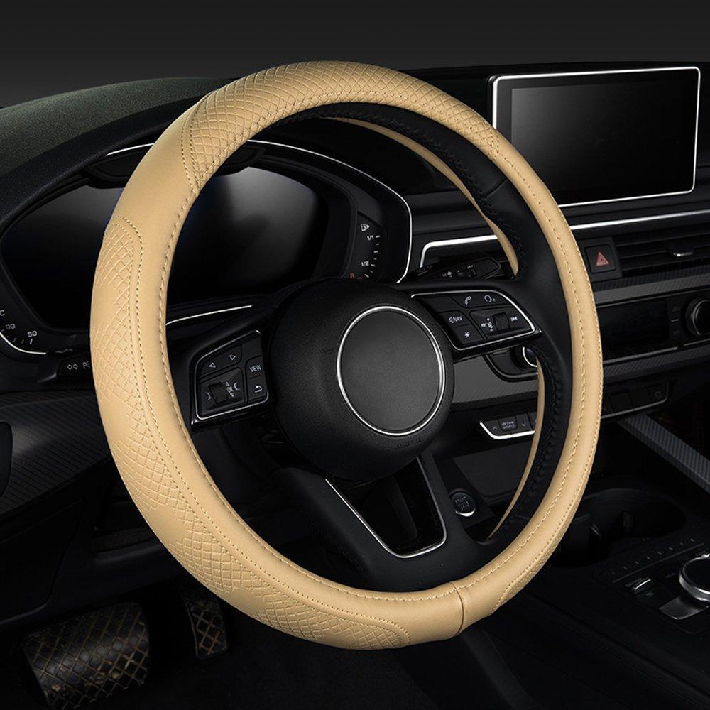 XU-Auto Housse de Volant en Cuir v/éritable Universal Fit 38cm /