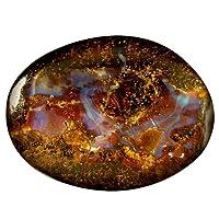 21.18 ct Fancy Shape (26 x 19 mm) Play of Colors Australian Koroit Boulder Opal Natural Loose Gemstone