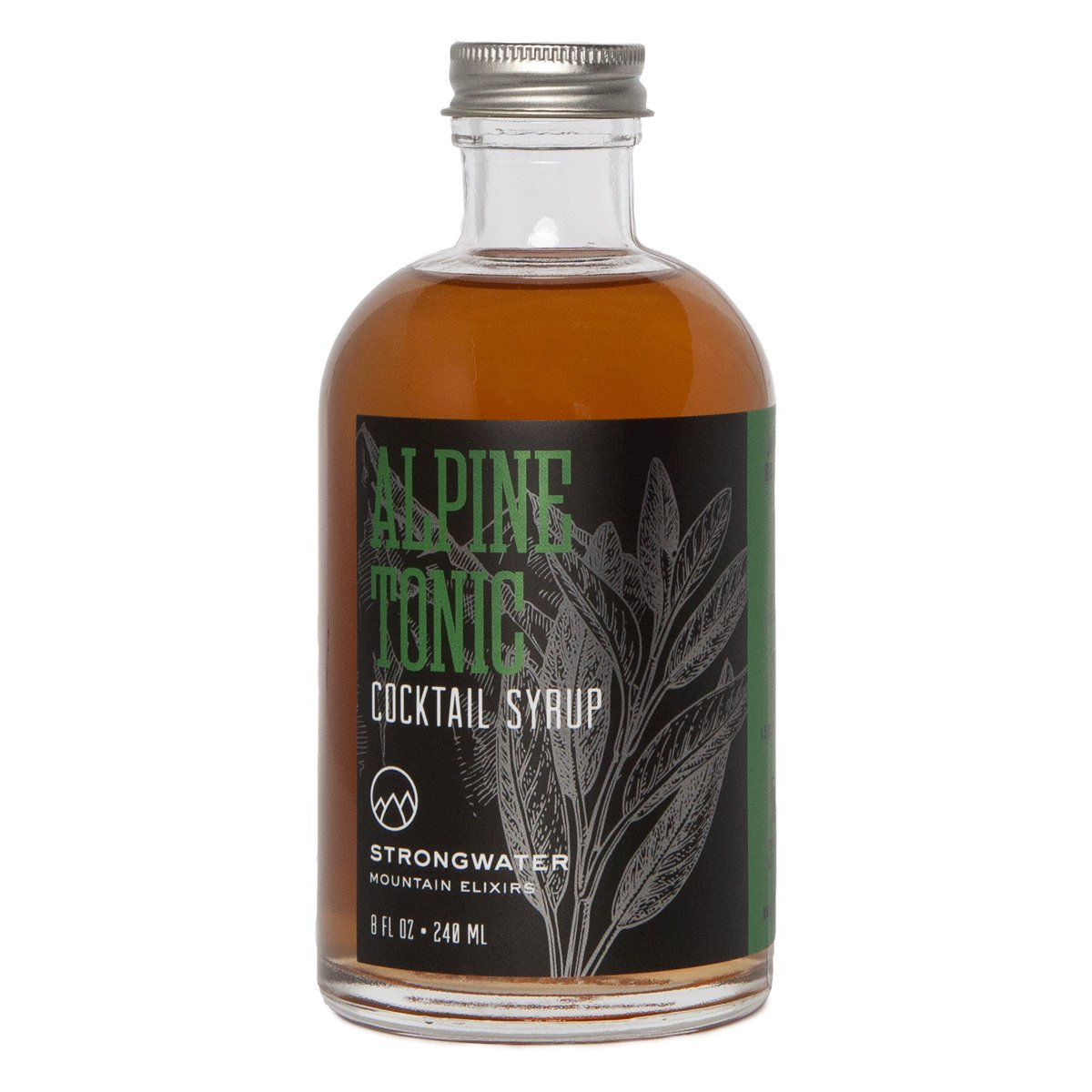 Strongwater Alpine Tonic Cocktail Syrup with Bitter Mountain Herbs, and a Hint of Sweetness to Create your Perfect Gin & Tonic