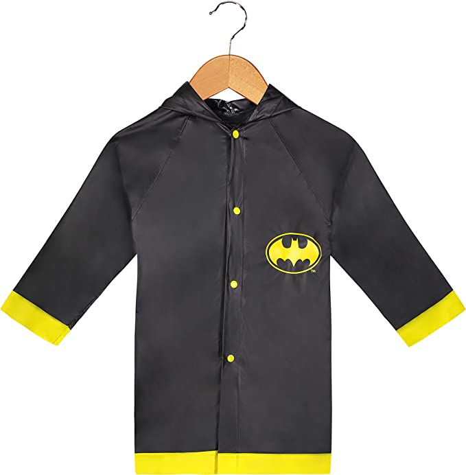 YELLOW AND BLACK   RAIN SLICKER NEW  FOR AGES 2-3