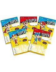 Premium Quality 30 Children's Birthday Party Invitations Yellow SuperHero Mix Pack Boys Girls Kids - No ENVELOPES