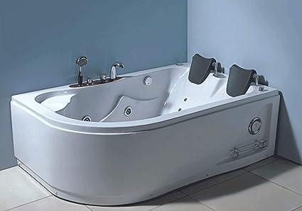 Vasca Da Bagno Angolare Offerte : Vasca da bagno idromassaggio angolare cm carnelli varadero