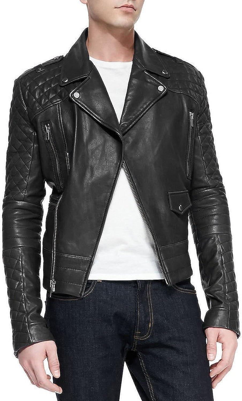 Kingdom Leather Men Motorcycle Cow Leather Jacket Coat Outwear Jackets XC801