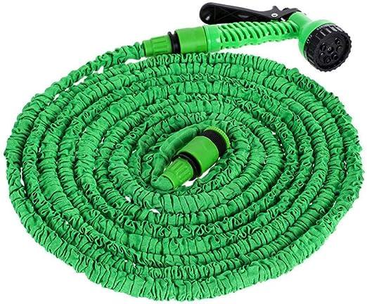 PENVEAT - Manguera Extensible Flexible de 25 a 175 pies para Manguera de jardín para Manguera de Coche, Conector de riego con Pistola de pulverización: Amazon.es: Jardín