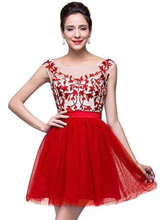 2015 Sexy Short Prom Dresses for Juniors Cocktail Party, Red