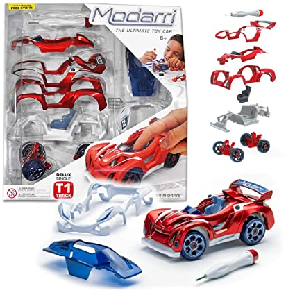 Design Your Own Car >> Modarri Delux T1 Track Car Red Stem Educational Toy Cars Make A Model Car Design Your Own Working Race Cars Fun And Functional Building Toys