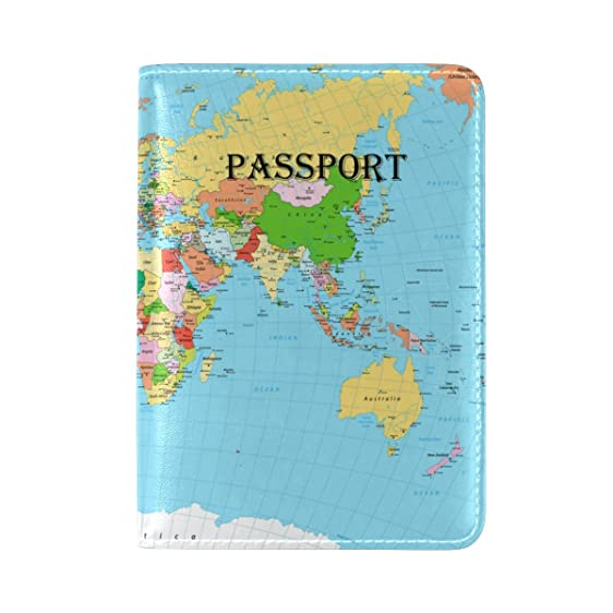 Amazon european style personalized world map travel passport european style personalized world map travel passport covers holder case protector gumiabroncs Gallery