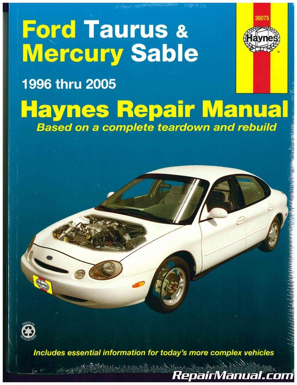 NOS-H36075 Haynes Ford Taurus Mercury Sable 1996-2005 Ford Repair Manual  Paperback – 2015
