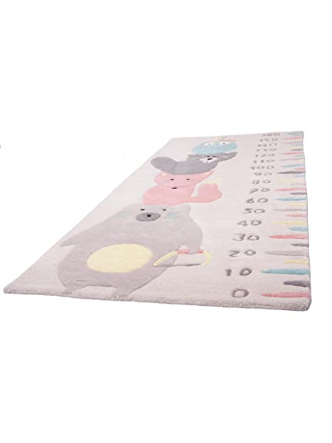 1 Pied Sur Terre Teppiche Kinderzimmer Kinderteppich Totem Rosa 70x170 Cm /  Prüfsiegel: GoodWeave