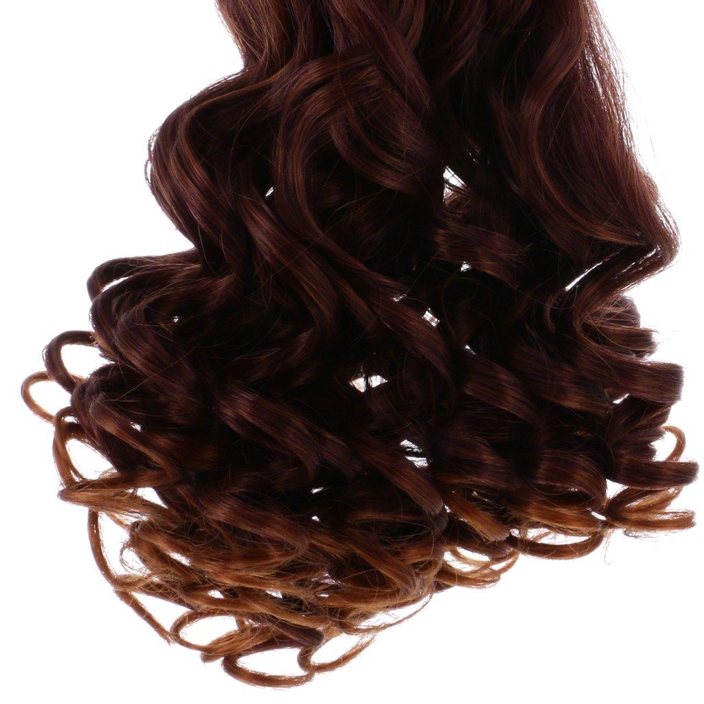 Doll Making Supplies Farbverlauf lockiges Haar Perücke DIY für 18 Puppen & Zubehör