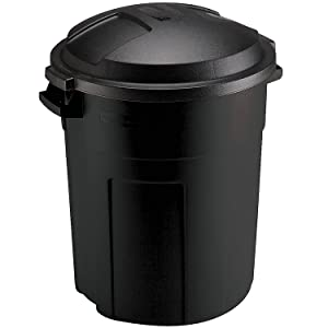 Rubbermaid Can, 20-Gallon, Black