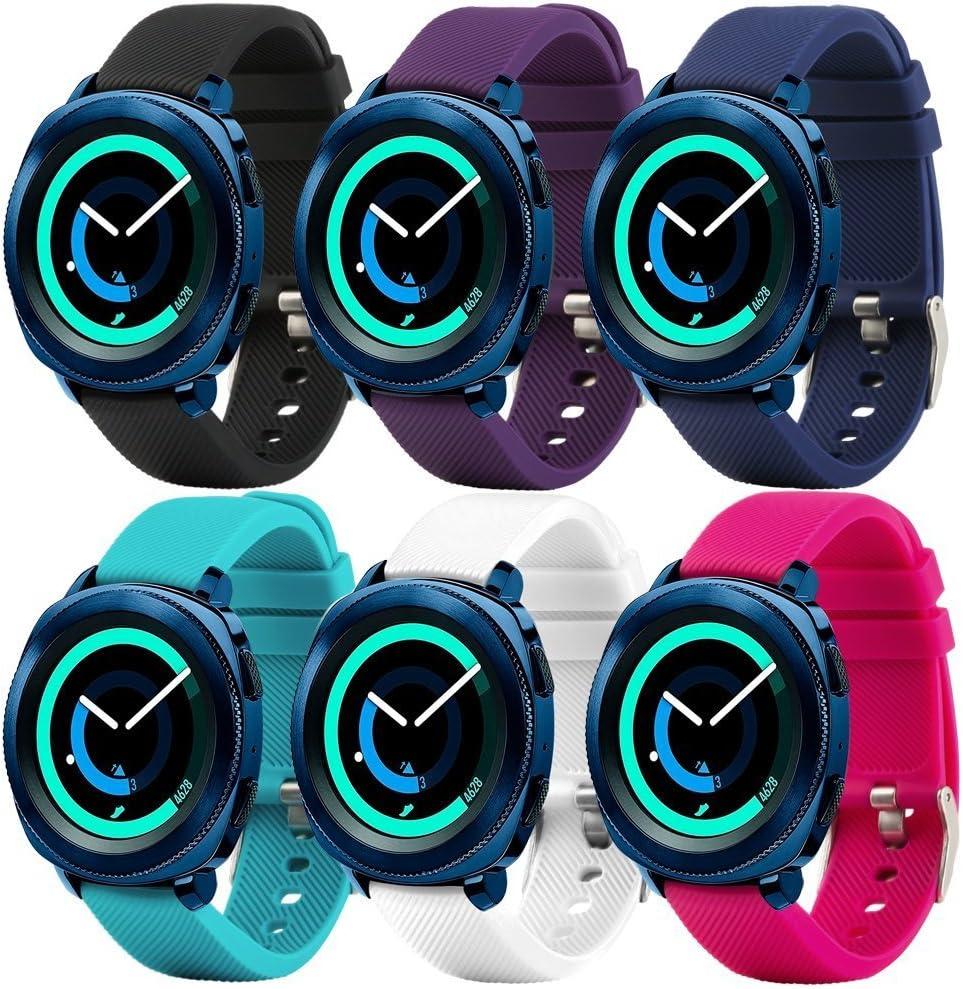Fit-power - Correa de repuesto para reloj inteligente, de 20 mm, compatible con Samsung Gear Sport, Samsung Gear S2 Classic, Huawei Watch 2 Watch y Garmin Vivoactive 3