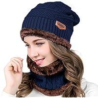 HighCool Beanie Cappello Inverno Donna,Cappelli e Sciarpa Set per Donna,Inverno Cappello Invernali Cappello Beanie