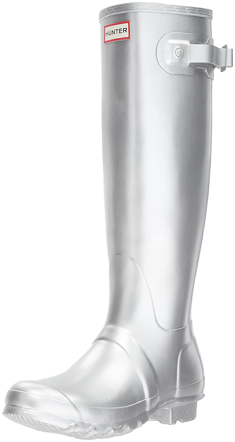 Hunter Women's Original Tall Rain Boot B06WRPMJHM 5 B(M) US|Silver