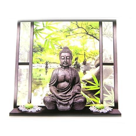 Amazon.com : Sticker trompe l\'oeil \'Jardin Zen\'buddha (50x70 cm ...