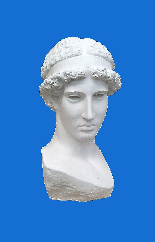 BUSTO IN GESSO -Athena Lemnia Di Fidia- (Prodotto laccato bianco) Tonin Luigi