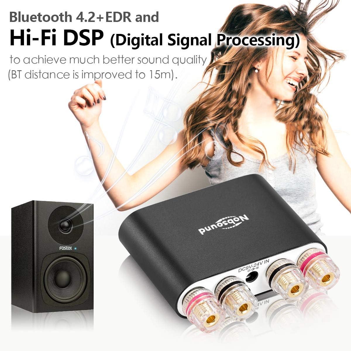 Nobsound Amplificador de audio estéreo de 2.0 canales Hi-Fi DSP ...
