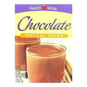 Healthwise - High Protein Diet Instant Cold Drink - Chocolate - 15g Protein - Low Calorie - Low Carb - Low Fat - Gluten Free - Aspartame Free (7/Box)