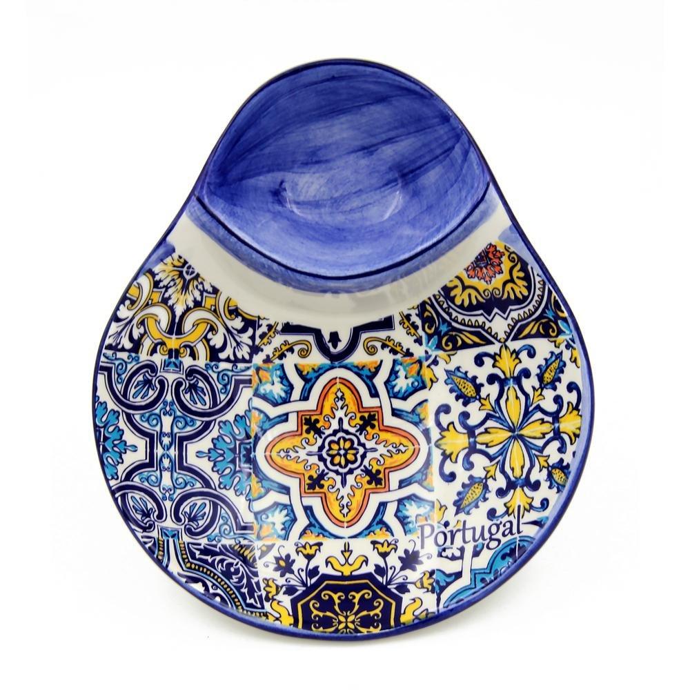 Hand-painted Portuguese Ceramic Olive Dish