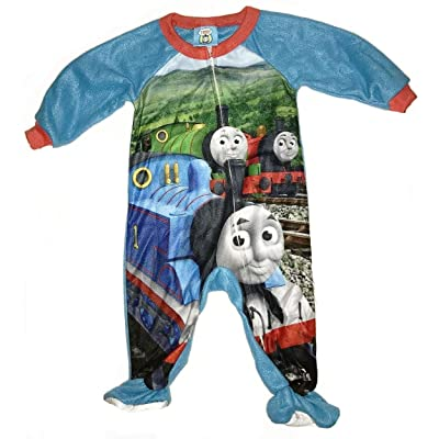 AME Boy's 12 Months Thomas and Friends Fleece Footed Blanket Pajama Sleeper