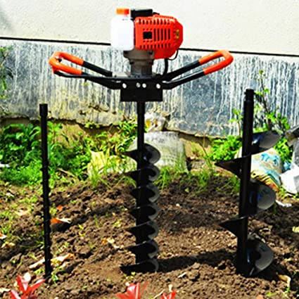 """52CC Gas Powered Post Hole Digger Auger Borer Fence Drill+4/""""//6/""""//8/"""" Bits+12/"""" Bar"""